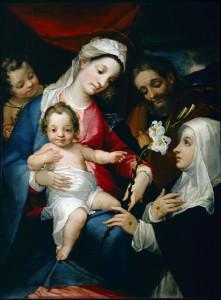 2 Alessandro Casolani, S. Famiglia con S. Giovannino e S. Caterina d'Alessandria chigi